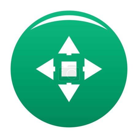 Ilustración de Icono de desplazamiento del cursor. Ilustración simple de icono de vector de desplazamiento de cursor para cualquier diseño verde - Imagen libre de derechos