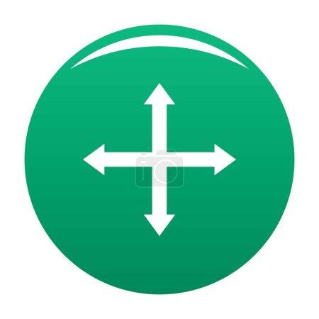 Ilustración de Icono de web de desplazamiento de cursor aislado sobre fondo blanco para cualquier diseño verde - Imagen libre de derechos