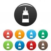 Glue icons set color