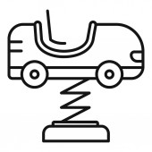 Kid car spring icon outline style