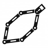 Bike chains icon simple style