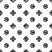 Nuts on cake pattern seamless vector repeat geometric for any web design