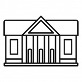 Window courthouse icon outline style