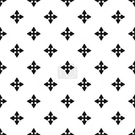 Ilustración de Patrón de elemento de desplazamiento del cursor geometría de repetición vectorial sin costuras para cualquier diseño web - Imagen libre de derechos