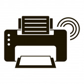 Smart printer icon simple style