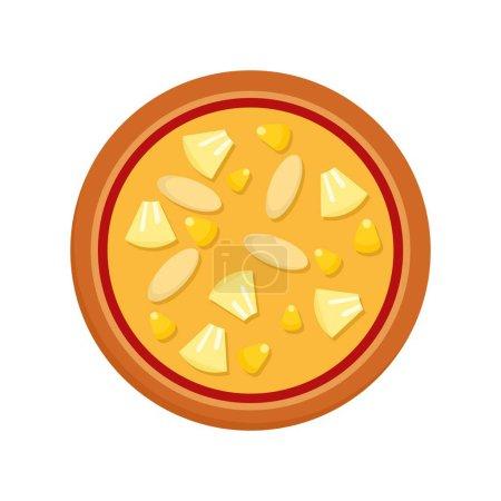 Photo pour Icône de pizza végétalienne. Illustration de plate d'icône de vecteur de pizza végétalienne pour la conception web - image libre de droit