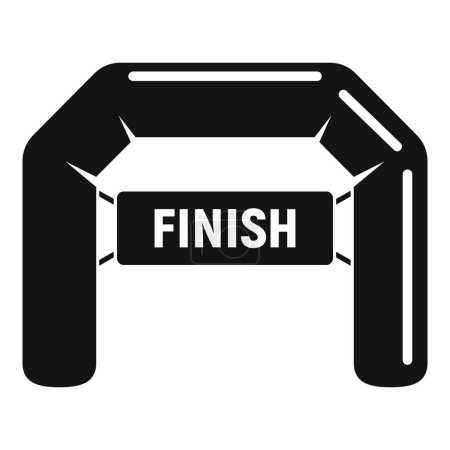 Photo pour Finish arch icon. Simple illustration of finish arch vector icon for web design isolated on white background - image libre de droit
