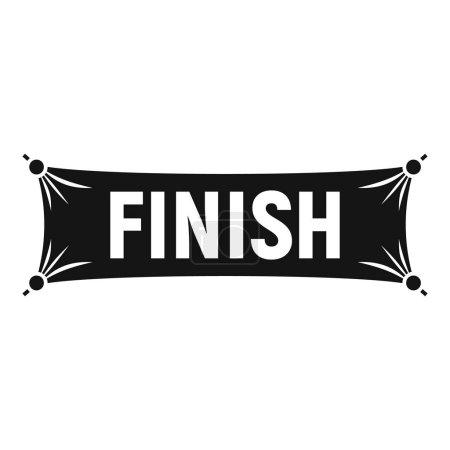Photo pour Finish textile banner icon. Simple illustration of finish textile banner vector icon for web design isolated on white background - image libre de droit