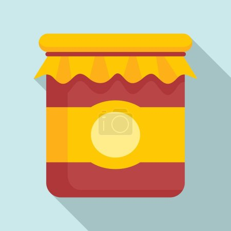 Photo pour Eco jam jar icon. Flat illustration of eco jam jar vector icon for web design - image libre de droit