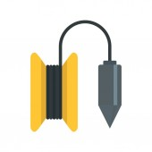 Gravity line tool icon flat style