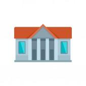 Window courthouse icon flat style