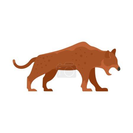Illustration for Stone age jaguar icon. Flat illustration of stone age jaguar vector icon for web design - Royalty Free Image