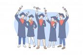 Education graduation awarding concept