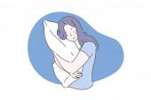 Sweet dream or sleep concept