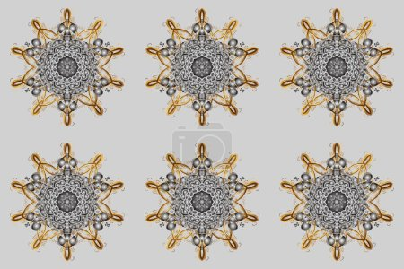 Photo for Vintage pattern with arabesques. Oriental raster pattern with arabesques and floral elements. Traditional classic ornament. - Royalty Free Image