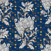 Abstract doodles pattern - stock It can be used on mug prints baby apparels sketch wrapping boxes etc Seamless Cute fabric pattern Vector sketch Pattern black blue and white on colors