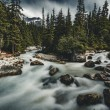 Long Exposure of Illecillewaet river with Mount Si...