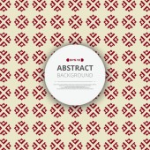 Abstract of red chinese pattern geometric background with round space of text illustration vector eps10