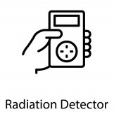 Hand holding portable device used for radiation detection