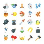 Game Flat Icons Set