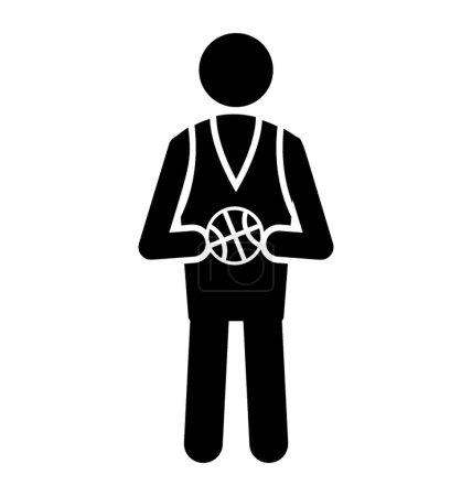 A man holding football in hand and and standing symbolizing basketball player