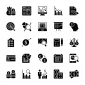 Auditor Glyph Vector Icons