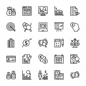 Auditor Line Vector Icons