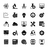 Science Glyph Vector Icons