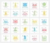Pakistani Landmarks Icons Set