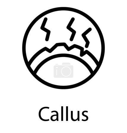 Thickened skin callus icon...