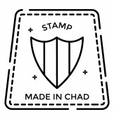 Made in chad seal icon