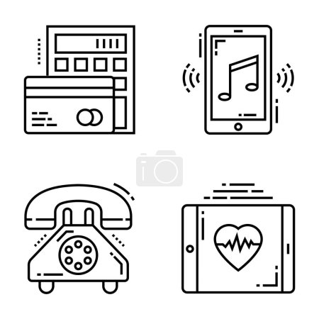 Collection Of Technology Devices Icons...