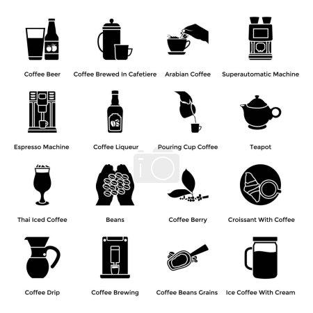 Kawy produkcji stałych wektory pakietu