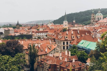 Photo for Aerial view of famous prague old town cityscape with beautiful architecture - Royalty Free Image