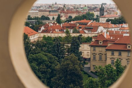 Photo for Selective focus of beautiful prague old town cityscape, prague, czech republic - Royalty Free Image