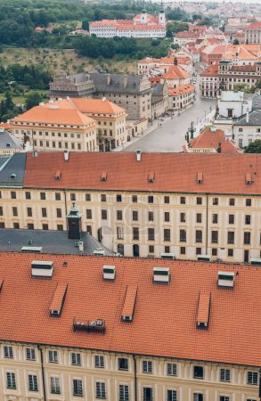 Photo for Aerial view of beautiful prague cityscape with ancient architecture - Royalty Free Image
