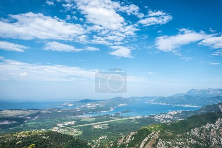 Photo for Beautiful view on Kotor bay and blue cloudy sky in Montenegro - Royalty Free Image