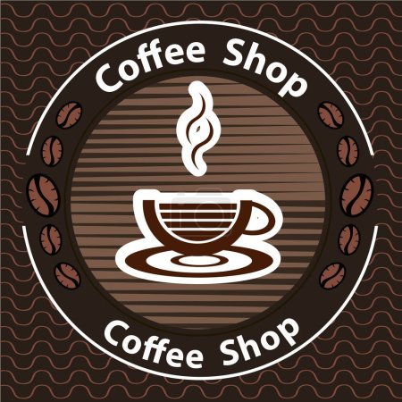 Coffee logo - vector illustration, emblem set design on black background.