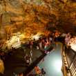 Alanya,Turkey-June 25,2019: Damlatas Cave. The sta...