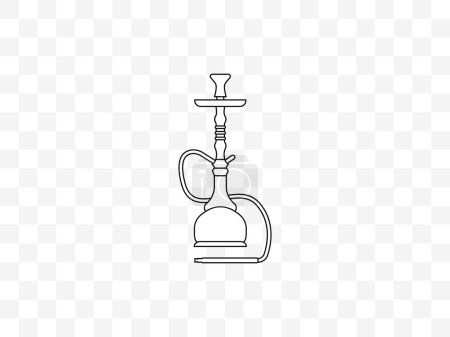 Illustration for Vector illustration, flat design. Hookah smoking tobacco icon - Royalty Free Image