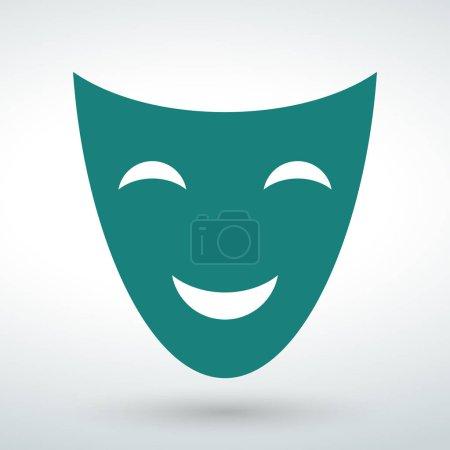icône du visage vecteur isolé sur un fond blanc .