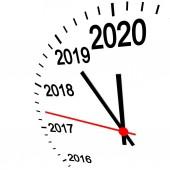 new year 2020 clock