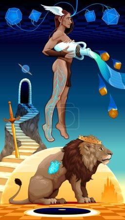 Binomial Leo Aquarius, two zodiacal opposites.