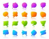 Speech Bubble simple gradient icon note vector set