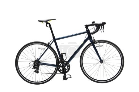 Photo for Isolated Gent Road Bike With Dark Frame in White Background - Royalty Free Image