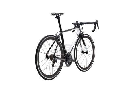 Photo for Isolated Carbon Road bike in Perspective View - Royalty Free Image