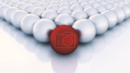 Photo pour De nombreuses boules ou sphères, boule de couleur différente devant - image libre de droit