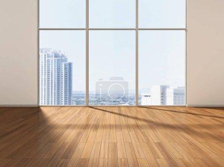 Photo pour Chambre vide devant une ligne d'horizon - image libre de droit