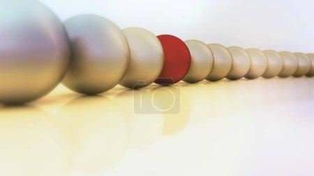 Photo pour Boules ou sphères de différentes couleurs disposées en rangées - image libre de droit