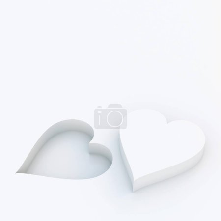 Photo for Two hearts close up view - Royalty Free Image